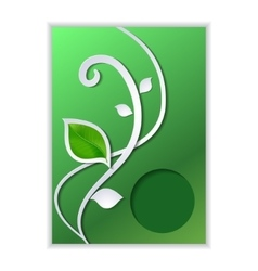 Modern card with eco green leaves vector image