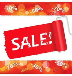 Sale Red Poster vector image vector image