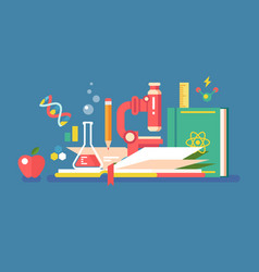 science tools for education vector image vector image