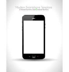 Ultra Realistic modern touch smartphone vector image vector image