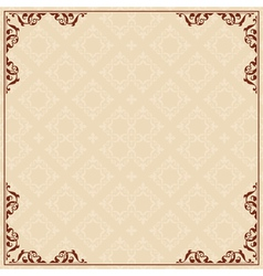 background with ornament in corners vector image vector image