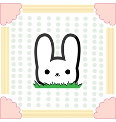 Cute little rabbit vector image
