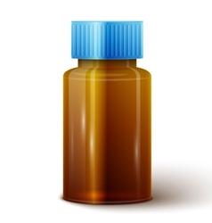 Glass medicine bottle vector