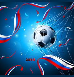 soccer ball with confetti vector image vector image