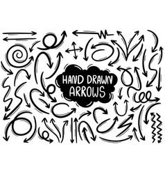 0009 hand drawn arrows vector