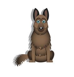 a cartoon german shepherd vector image