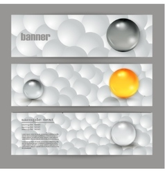 abstract gray banner for web vector image