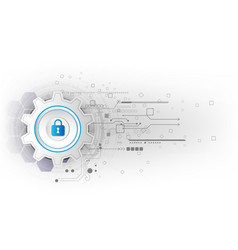 Abstract security digital technology background vector