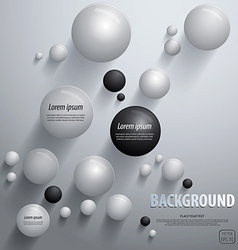 Abstract sphere background vector