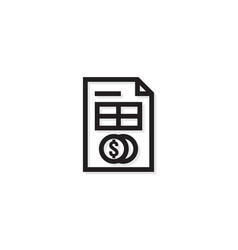 accounting business management line icon payment vector image