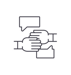 agreement of intent line icon concept agreement vector image
