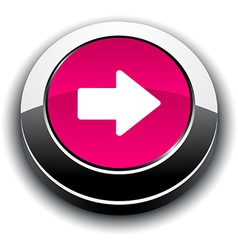Arrow 3d round button vector