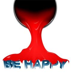 Be happy vector