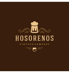 Beer Logo Design Element in Vintage Style for vector image