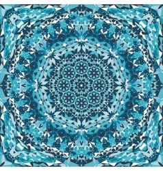 Blue ornamental kaleidoscope pattern vector