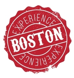 Boston stamp rubber grunge vector image