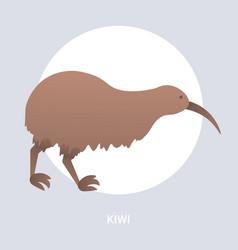 brown kiwi icon cartoon endangered wild australian vector image