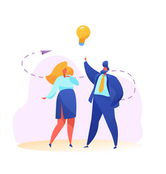 business man and woman creativity idea vector image