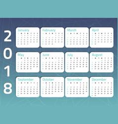 calendar-blue-color vector image