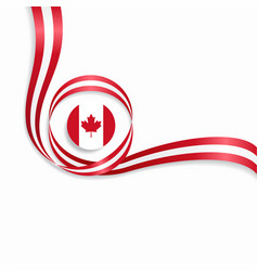 Canadian wavy flag background vector