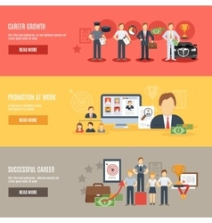 Career Banner Set vector