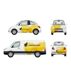 cars branding realistic vector image