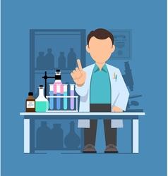 Character scientist doctor vector