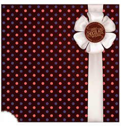 Chocolate wrapping design vector