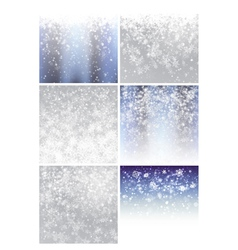 Christmas background set 1 vector image