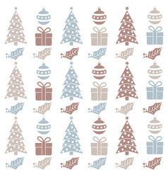 christmas seamless pattern with balls christmas vector image