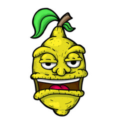 Citron with face vector