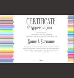 colorful certificate template 2 vector image