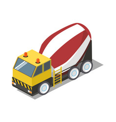concrete mixer isometric vector image