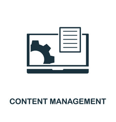 content management icon symbol creative sign from vector image