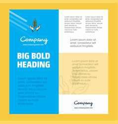 crops in hands business company poster template vector image