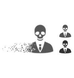 Destructed pixel halftone deadly manager icon vector