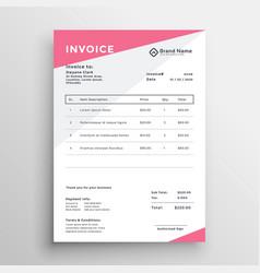 Elegant invoice quotation template design vector