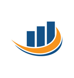finance wave business logo vector image