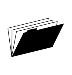 folder archive binder office supplies office vector image