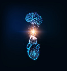 Futuristic emotional intelligence concept vector