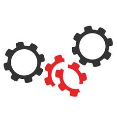 gears damage icon vector image