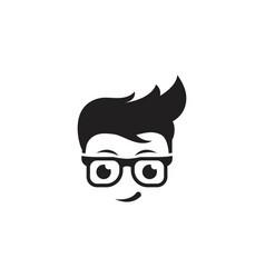 geek boy icon design vector image