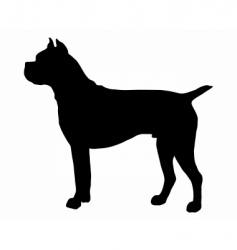German boxer dog silhouette vector