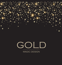 gold elegant glitter abstract background soft vector image