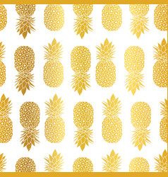 Gold white pineapples geometric vector
