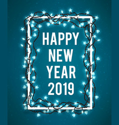 happy new year 2019 poster with realistic vector image