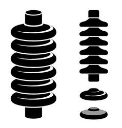 High voltage electrical insulator black symbol vector