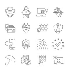 internet security and digital protection line vector image