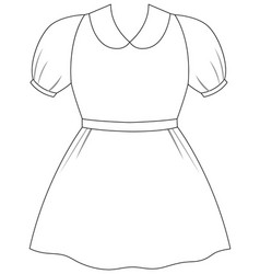 Isolated outfit black outline vector