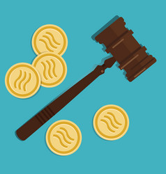libra crypto-currency law concept legal vector image
